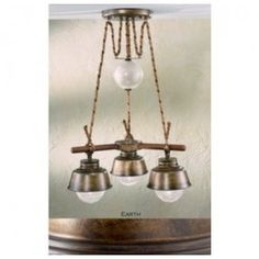 Lustrarte 308/3 Three Light Two Tier Chandelier from the Amarras Collection