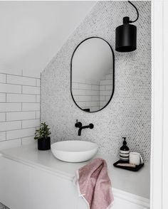 Most current Snap Shots white Bathroom Mirror Concepts Perhaps you have looked at a person's outdated bathroom mirror and merely desired may the hammer t Neutral Bathroom, Attic Bathroom, Laundry In Bathroom, White Bathroom, Small Bathroom, Bathroom Interior, Black Bathrooms, Ikea Interior, Bathroom Marble