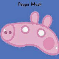 Máscara de Peppa Pig para Imprimir gratis.