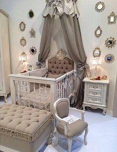 What a regal baby nursery! #babynursery #bedroom