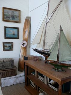 My man room will have a model boat (or 2). the wooden propeller is a nice touch too