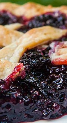 The Best Blackberry Pie Ever. No Kidding! All Butter Crust, Loads of Blackberries, Spiced with a Little Lemon, Cinnamon, and Almond Extract