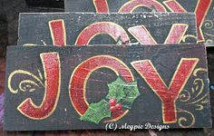Megpie Designs: JOY Sign