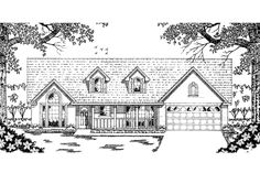 Country Exterior - Front Elevation Plan #42-569