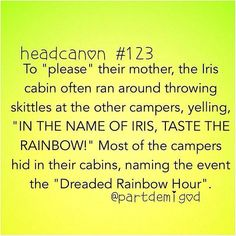 Percy Jackson. Iris cabin