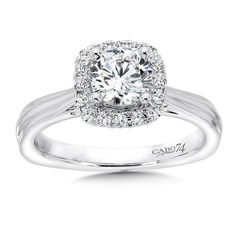 Caro 74 - Classic Elegance Collection Diamond Halo Engagement Ring in White Gold tw. Engagement Ring Jewelers, Engagement Ring Photos, Halo Diamond Engagement Ring, Glam Rock, Cushion Cut Halo, Classic Elegance, Halo Rings, Fashion Rings, Women's Fashion