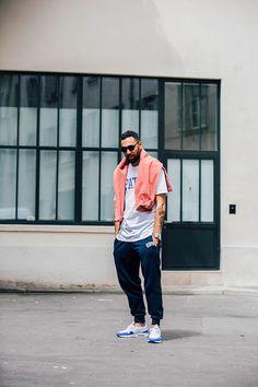Street looks man Fashion Week Paris Spring Summer 2017 98