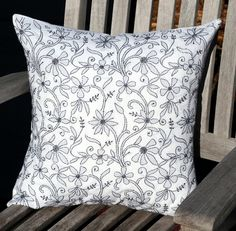 Make a statement in your home with this eye-catching, white, embroidered pillow cover! And shop our entire collection of unique, beautiful home decor that's hand-crafted in India.