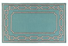 Selby Flat-Weave Rug, Green on OneKingsLane.com