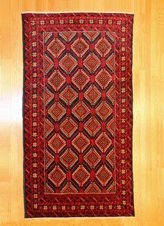 Balouch Turkman Tribal Rug TAN80026488 Iran