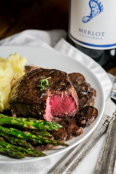 Easy, excellent recipe for filet mignon. The mushroom sauce is mouthwatering and tastes gourmet. This filet mignon recipe is perfect for any occasion!