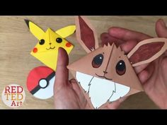 Easy Eevee DIY - Pokemon Bookmark Corners - Origami Inspired - Pokemon Go. Easy Eevee DIY - Pokemon Bookmark Corners - Origami Inspired - Pokemon Go! I have had SO MANY requests for different Pokemon Go Characters, that I have decided to do a special Pokemon Go, Pokemon Craft, Pokemon Party, Pikachu, Angry Birds, Paper Bookmarks, Corner Bookmarks, Bookmark Craft, Origami Bookmark
