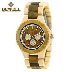 Trendy Top Brand Wooden Watches Big Sale http://timecreatives.com/bewell-wooden-mens-luxury-watch-chronograph/ //Price: $67.99 & FREE Shipping //     #watches #watchesformen #wristwatch #fashion