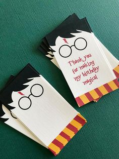 Harry Potter Birthday party favor tags gift tags