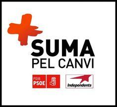 Logotp de la coalició Suma pel Canvi (2011) de PSIB i Independents per Can Picafort, Santa Margalida i Son Serra