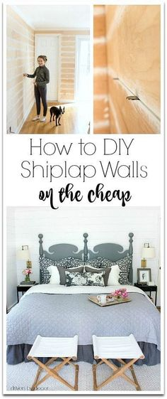 to DIY Shiplap Walls on the Cheap! Tips and tricks for adding DIY faux shiplap walls on a budget!Tips and tricks for adding DIY faux shiplap walls on a budget! Diy Home Decor On A Budget, Cheap Home Decor, Home Improvement Projects, Home Projects, Cheap Diy Headboard, Driven By Decor, Faux Shiplap, Shiplap Diy, Home Repairs