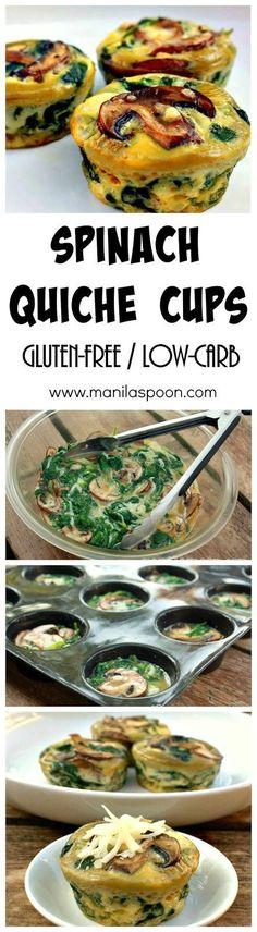 Spinach Quiche Cups Recipe | Buzz Inspired