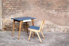 BUREAU ET SA CHAISE VINTAGE RELOOKEÉ http://www.gentlemen-designers.fr