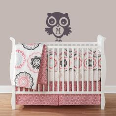 cute owl and bedding