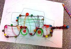 Wire car sculptures