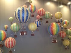 hot air balloon mobiles, these are amazing! #hpmkt
