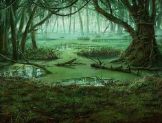 """A swamp? Here? We are in the middle of a forest!"" - ""I have learned to not trust the woods of Tulai. We've been here before; don't you remember?"""