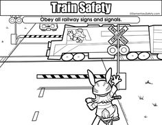 Obey all railway signs Train Safety printable