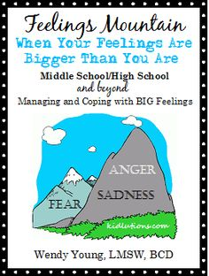 It's finally here! Our newest resource: Feelings Mountain: A Resource To Help Tweens, Teens and Beyond Deal with Difficult Feelings.  This resource is made specifically for middle school and high school students, but is also appropriate for use with college-aged students and adults who are struggling with similar issues.  $ Professional help without the professional prices.  Home or Profession Use Versions. #therapy #playtherapy #psych #schoolcounseling