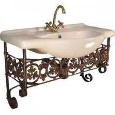wrought iron wash basin stands - Google Search