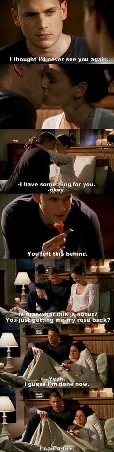 Prison Break S04E01 Michael & Sara.