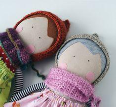 Rag doll, handmade doll, soft doll /Кукла из ткани, кукла с одеждой