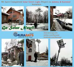 Our Completed Solar Projects - Solar Street Light Project installed by Perfect Aurarays in  Jammu and Kashmir, India. See more images from Jammu and Kasmir: http://www.aurarays.com/solar-project-jammu-and-kashmir.aspx #solarlights #solarstreetlights #solarpanels