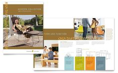 Furniture Store Brochure Template Design by StockLayouts