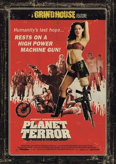 Planet Terror Directed by Robert Rodriguez Who doesn't enjoy watching a group of people survive against zombie like creatures and who doesn't enjoy seeing the beautiful Rose McGowan kicking ass. Streaming Movies, Hd Movies, Movies Online, Movie Tv, Hd Streaming, Nice Movies, Ghost Movies, Scary Movies, Quentin Tarantino