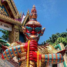 A Yuk protecting a Buddhist Wat