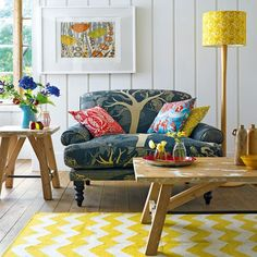 Colour in country style 0 light and fresh and not to twee  7 country home looks inspired by the garden