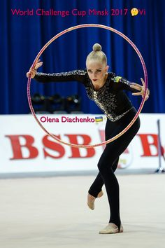 Olena DIACHENKO (Ukraine)🇺🇦 ~ Hoop @ World Challenge Cup Minsk 05-06/08/'17🇧🇾 😊😊