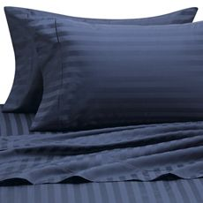 Wamsutta 500 Damask Sheet Sets, 100% Egyptian Cotton, 500 Thread Count - Bed Bath & Beyond...looks nice with gray damask comforter and my dark blue bedroom walls!