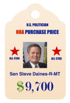 NRA purchase price for a Senator. NRA dollar amounts shown are CAREER totals to date as obtained from the OpenSecrets.org website. *updated November 2015 to include declared incumbents, 2016 elections*