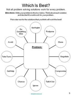Use a Problem Solving Graphic Organizer to visualize solutions