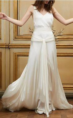 Delphine Manivet Bridal Spring Summer 2016 Look 6 on Moda Operandi Green  Wedding Dresses c076e310ed