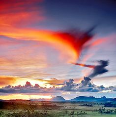 Sunset - Chapada dos Veadeiros - Estado de Goiás, Brasil.