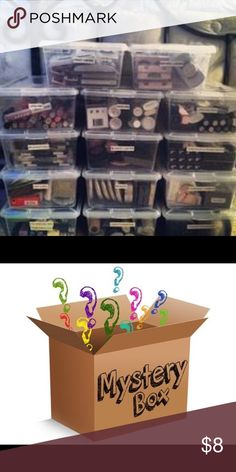 Makeup mystery box ********New makeup. You don't get to choose, you can get lipstick, makeup brushes, eyebrow kits, bronzer, eyeshadow,primer, plumper or mascara. There are different companies you can get************ CHANEL Makeup