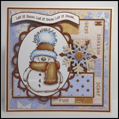 Rainey's Craft Room: Christmas Card Club Challenge #15 - Let It Snow