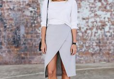 A Pair & A Spare | DIY Split Wrap Skirt