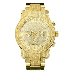 JBW Men's J6336B Lynx .80 ctw 18k gold-plated stainless-steel Diamond Watch