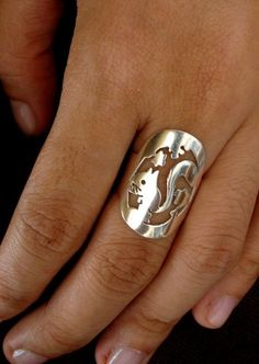 Squirrel Adjustable Ring  FREE SHIPPING by STROZZi on Etsy, $16.00