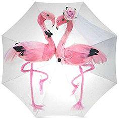 Christmas/New Year Gift Beautiful Flamingo Pattern Foldable Sun/Rain Umbrella Sunshade Parasol