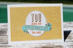 You Are So Precious to Me Note Card by AllOnAHeartstring on Etsy