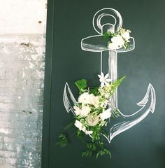 Chalk anchor nautical wedding inspiration